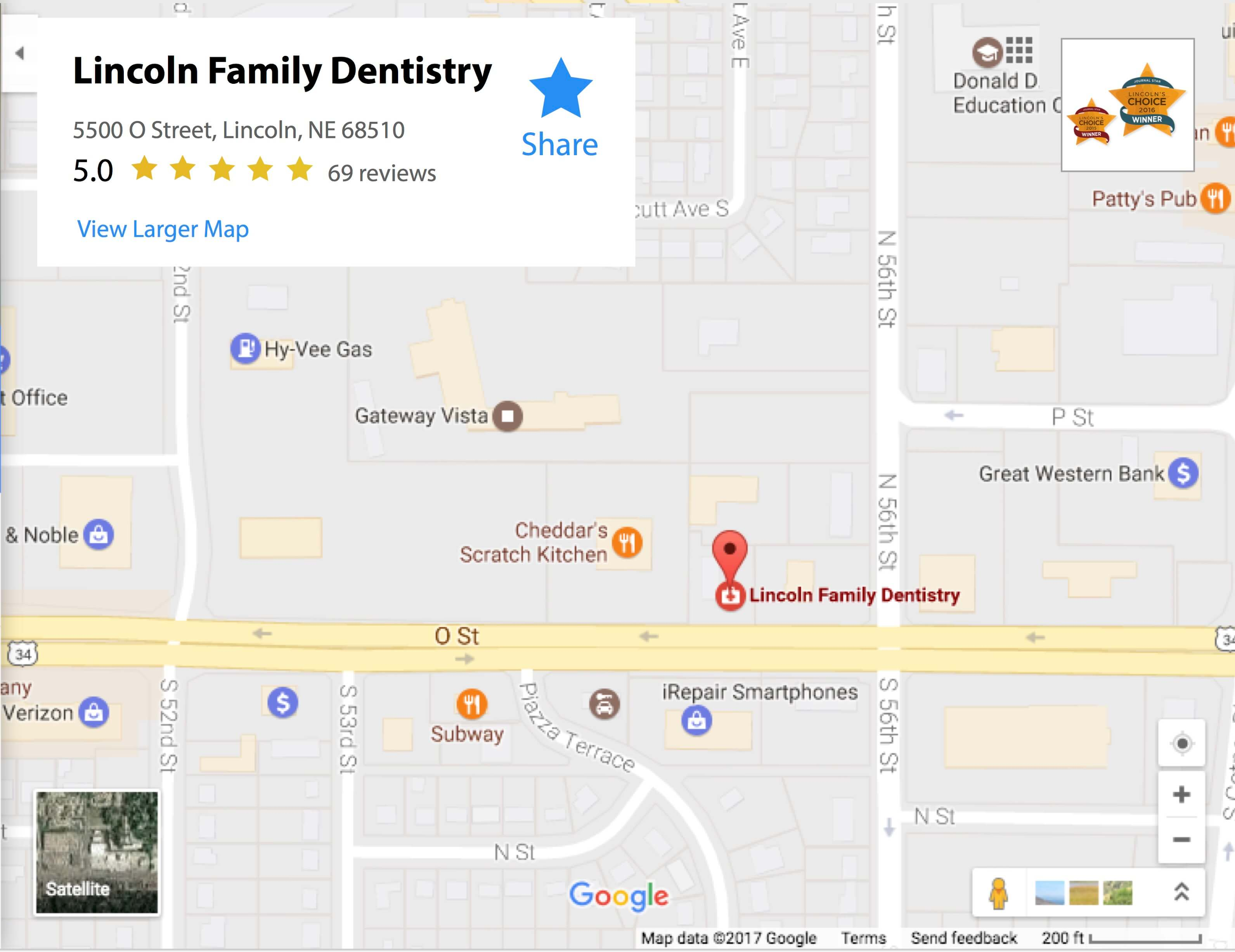 Dental Family Dentistry Lincoln Ne Map Nebraska Family