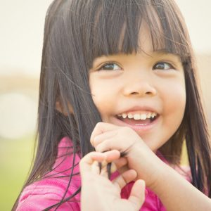 white fillings nebraska family dentistry little girl