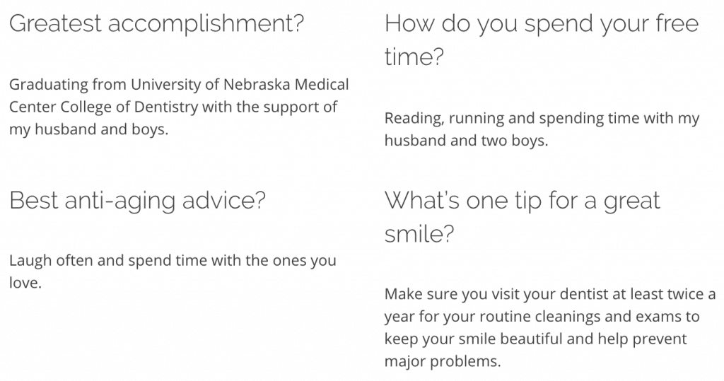 Question and Answers from gentle dentist in Lincoln, NE