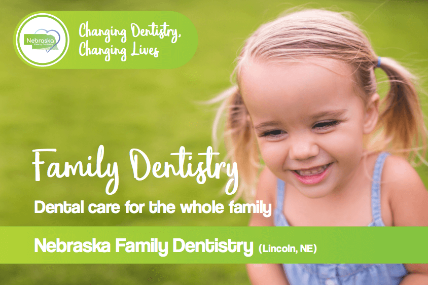 family dentistry banner from dentists in Lincoln, NE