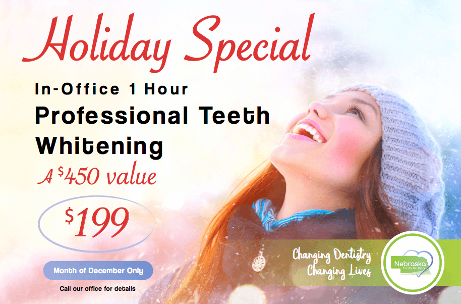 professional teeth whitening December Special
