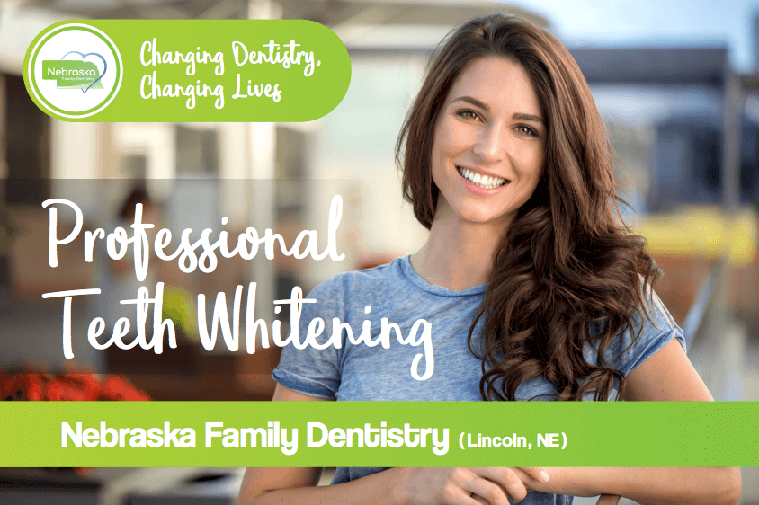 professional teeth whitening banner for Nebraska Family Dentistry located in Lincoln, NE