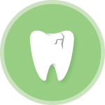 cracked teeth icon from Lincoln Dentist in Lincoln, NE