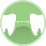 gap in teeth icon