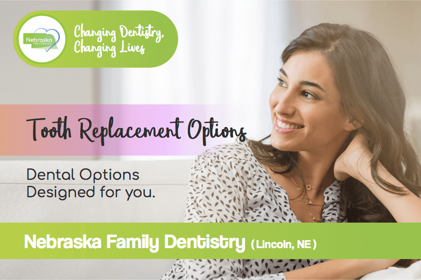 Tooth replacement options banner from dentist in Lincoln, NE