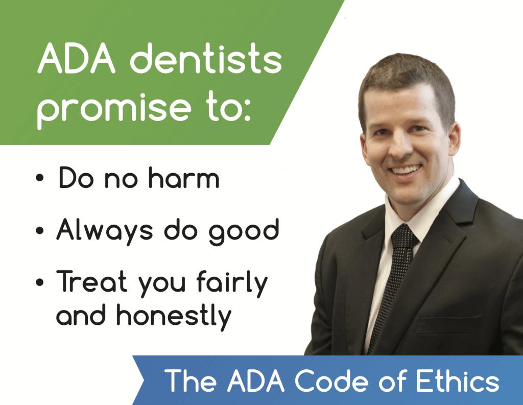 Dr. Brad Alderman's ADA code of ethics