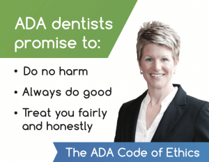 Dr. Jodi Day gentle dentist Lincoln, NE ADA Code of Ethics