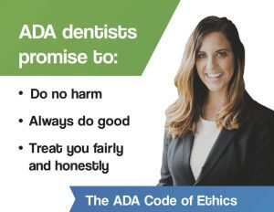 south lincoln dentist Dr. Joyce's ADA Code of Ethics