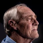 Elderly man with bad breath looking for about dental emergencies for seniors in Lincoln, NE