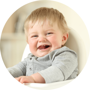 Lincoln Dentist for Children scenario of baby with baby teeth