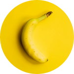 Image of a banana. Your Lincoln, NE  biological dentist says that some fresh fruit may help with insulin resistance.
