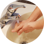 washing hands for Dental office infection control