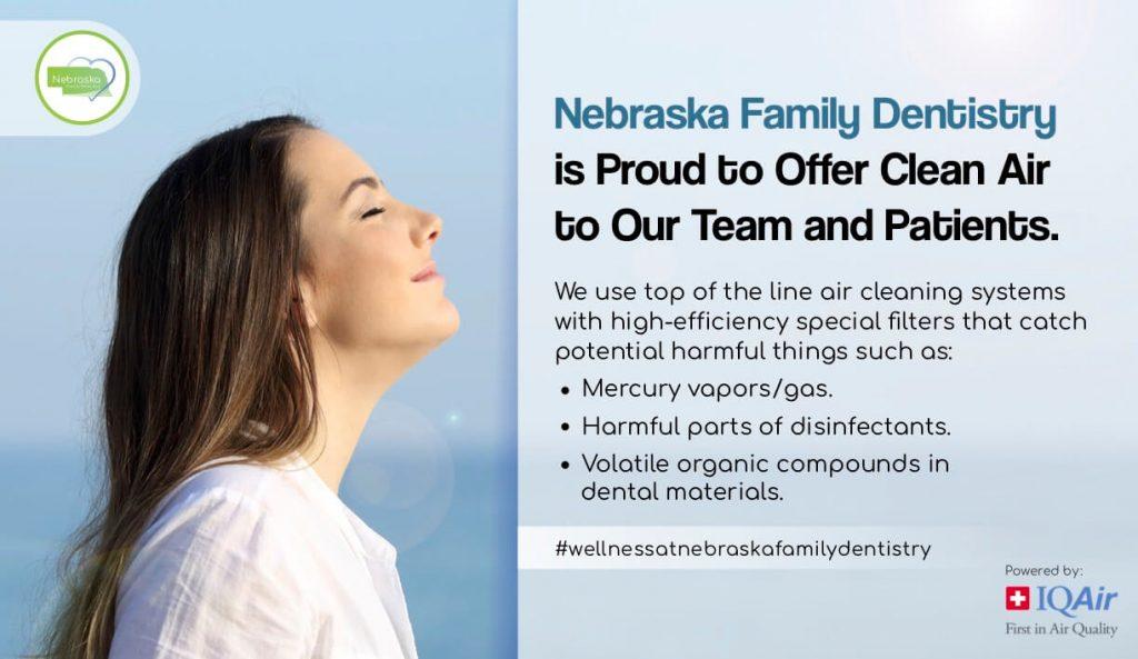 Clean Air poster nfd lincoln ne for Wellness program in dentistry