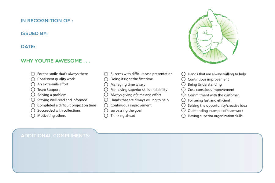 Back side of fish card for Wellness program in dentistry