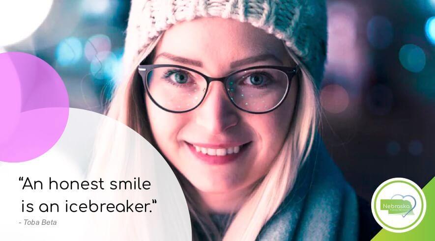 cosmetic dentist Lincoln, NE near me smile quotes