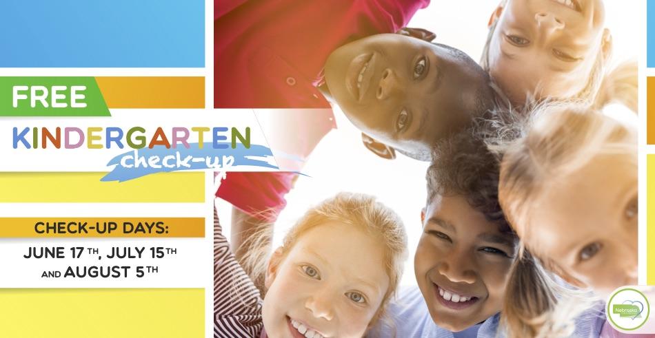 free kindergarten check up 2020