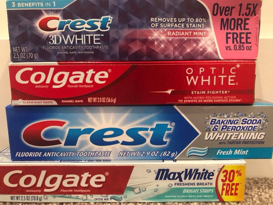choice of toothpaste
