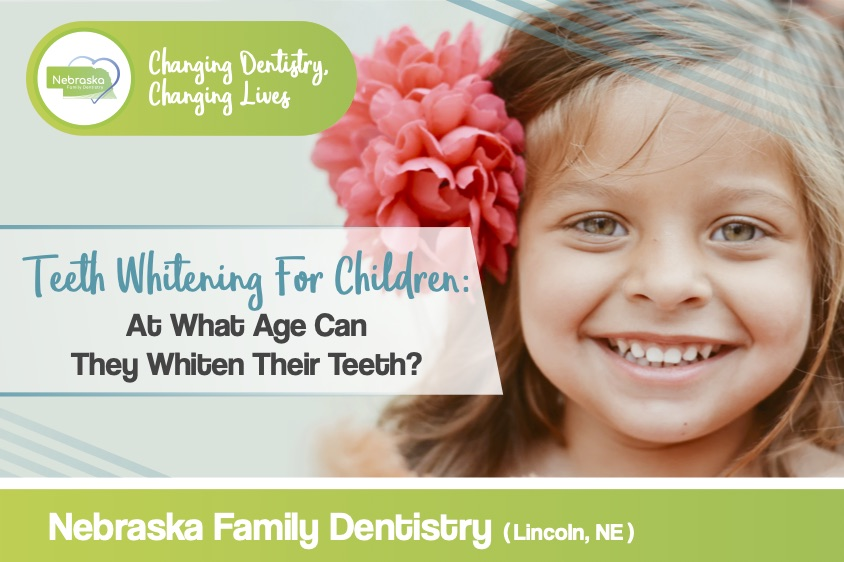 Image of a banner about teeth whitening for children from NFD.