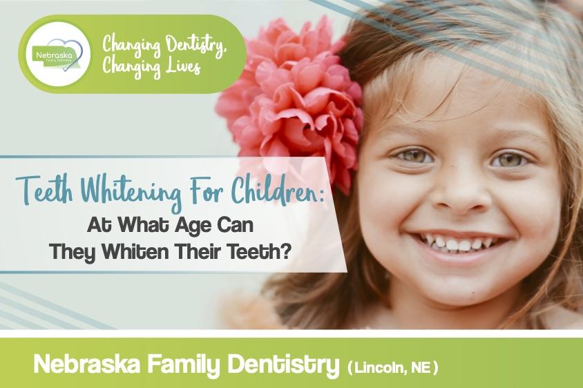 Teeth whitening for children banner from NFD.